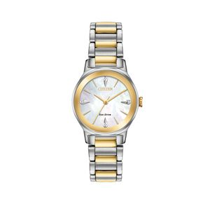 Preview image of Citizen Ladies Eco-Drive Axiom Gold Plate Diamond Watch
