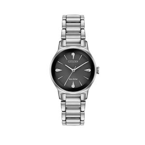 Preview image of Citizen Ladies Eco-Drive Axiom Black Dial Diamond Watch