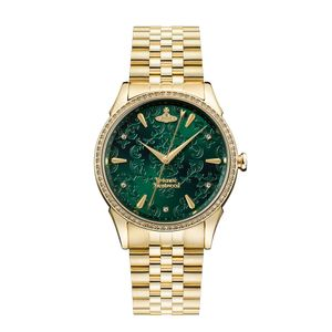 Preview image of Vivienne Westwood Wallace Gold Plated Green Dial bracelet Watch