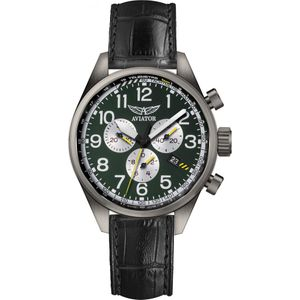 Preview image of Aviator Airacobra P45 Chronograph Gents Green Strap Watch