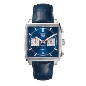 Preview image of TAG Heuer Monaco Calibre Heuer 02 Blue Strap Watch
