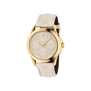 Preview image of Gucci G-Timeless Cream and Gold Watch