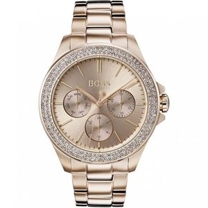 Preview image of Hugo Boss Premiere Gold Plated Chronograph Ladies Watch