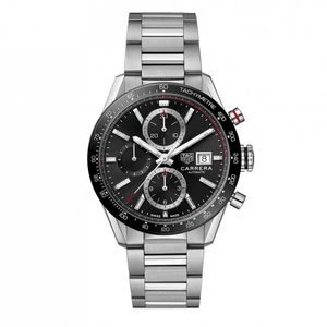 Preview image of Tag Heuer Men's Carrera Black Automatic 41mm Bracelet Watch