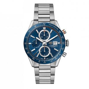Preview image of Tag Heuer Men's Carrera Blue Automatic 41mm Bracelet Watch
