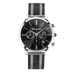 Preview image of Thomas Sabo Black and Silver Chrono Mesh Bracelet Watch