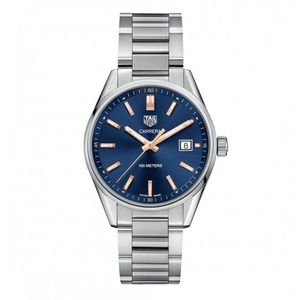 Preview image of Tag Heuer Men's 39mm Carrera Blue Dial Bracelet Watch