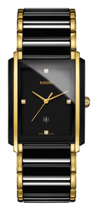 Preview image of Gents Rado Integral Black and YGP Diamond Set Watch