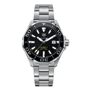 Preview image of Tag Heuer Aquaracer Automatic Black Dial Bracelet Gents Watch