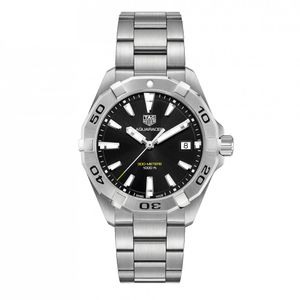 Preview image of Tag Heuer Men's 41mm Aquaracer  Black Bracelet Watch