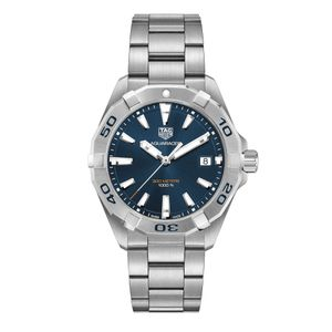 Preview image of Tag Heuer Men's 41mm Aquaracer Blue Bracelet Watch