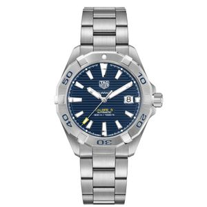 Preview image of Tag Heuer Men's 41mm Aquaracer Calibre 5 Blue Bracelet Watch