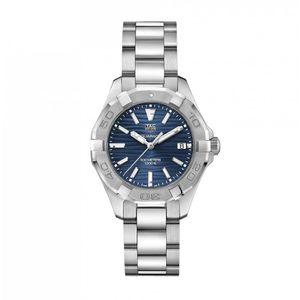 Preview image of Tag Heuer Ladies 35mm Aquaracer Blue Dial Bracelet Watch STU