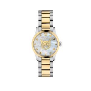 Preview image of Gucci G-Timeless 27mm Mystic Cat Gold and Steel Bracelet Watch