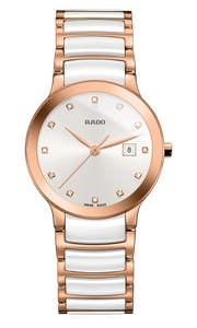 Preview image of Ladies Rado Centrix Rose and White Diamond Set Watch