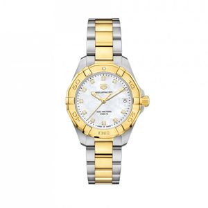 Preview image of Tag Heuer Ladies 32mm Aquaracer Steel & Gold Diamond Dot Bracelet Watch