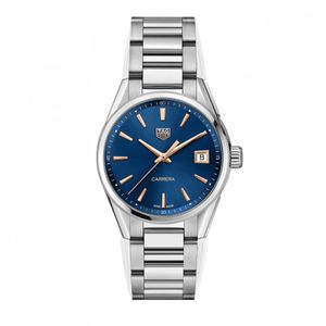 Preview image of Tag Heuer 36mm Ladies Blue Dial Stainless Steel Carrera Watch