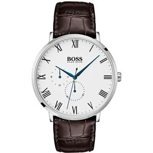 Preview image of Hugo Boss William Brown Leather Strap Watch