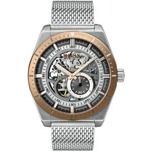 Preview image of Hugo Boss Signature Skeleton Men's Automatic Mesh Bracelet Watch