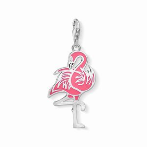 Preview image of Thomas Sabo Hot Pink Enamel Flamingo Charm
