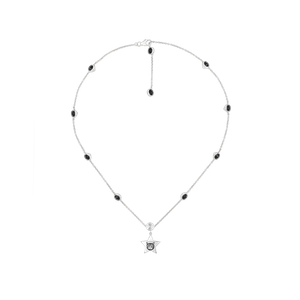 Preview image of Gucci Blind For Love Black Spinel Silver Necklace