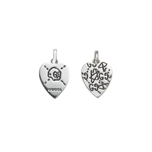 Preview image of Gucci Silver Heart Skull Charm