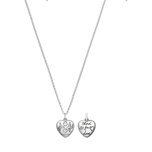 Preview image of Gucci Blind For Love Silver Necklace 45cm