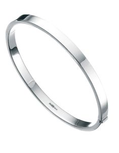 Preview image of Ladies Sterling Silver Square Cut Bangle