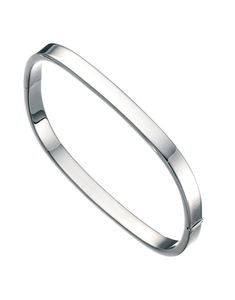 Preview image of Ladies Sterling Silver Square Bangle