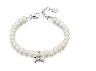 Preview image of D for Diamond Pearl with Bow Bracelet