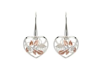 Preview image of Unique Heart Leaves CZ Earrings