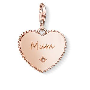 Preview image of Thomas Sabo Charm Pendant Heart Mum Gold