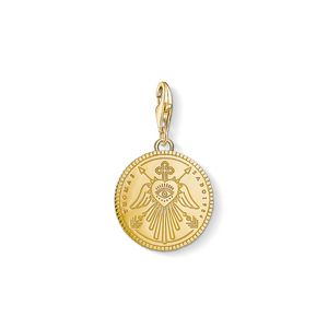 Preview image of Thomas Sabo Yellow Gold Plated Angel Wings Charm