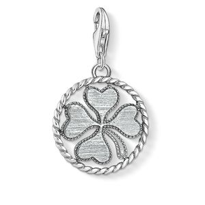 Preview image of Thomas Sabo Silver Disc Cloverleaf Charm