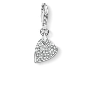 Preview image of Thomas Sabo Pave Stone Set Heart Charm