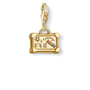 Preview image of Thomas Sabo Life Is A Journey Yellow Gold Plated Suitcase Charm
