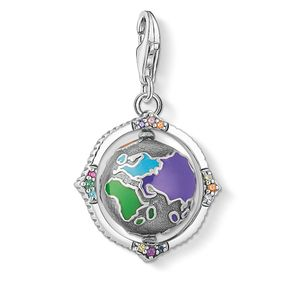 Preview image of Thomas Sabo Multi Coloured Globe Charm