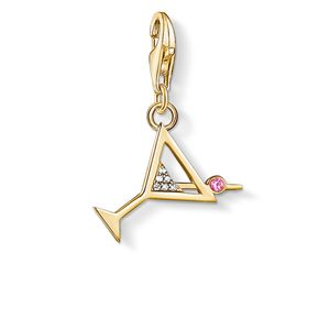 Preview image of Thomas Sabo Yellow Gold Plated Cocktail Glass Charm