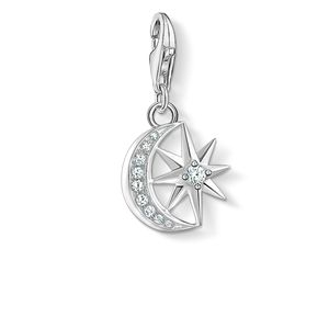 Preview image of Thomas Sabo Stone Set Moon and Star Charm