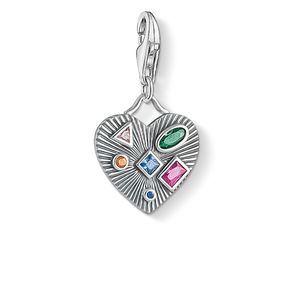 Preview image of Thomas Sabo Heart With Coloured Stones Charm