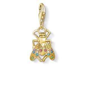 Preview image of Thomas Sabo Gold Plated Multi Stone Fly Charm