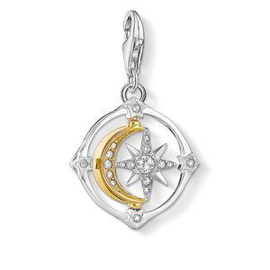 Preview image of Thomas Sabo Bi- Colour Moveable Moon and Star Charm