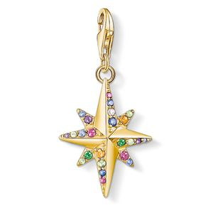 Preview image of Thomas Sabo Gold Plated Stone Set Star Charm