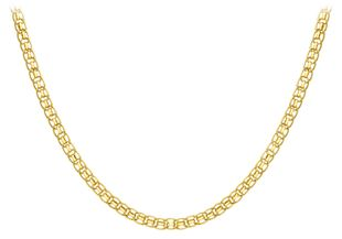 Preview image of 9ct Gold 20'' Multi Fancy Link Ladies Necklace