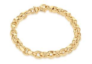 Preview image of 9ct Gold Heavy Oval Belcher 8'' Gents Bracelet