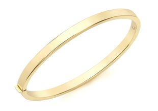 Preview image of 9ct Gold Plain Tube Hinged Ladies Bangle