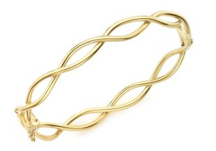 Preview image of 9ct Yellow Gold Crossover Ladies Bangle