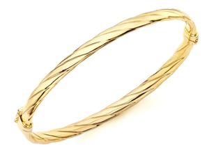 Preview image of 9ct Yellow Gold Twist Detail Bangle