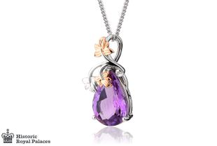 Preview image of Clogau 18ct White Gold Great Vine Amethyst Pendant