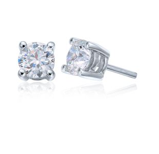 Preview image of 18ct White Gold Canadian Arctic 0.60ct Diamond Solitaire Studs